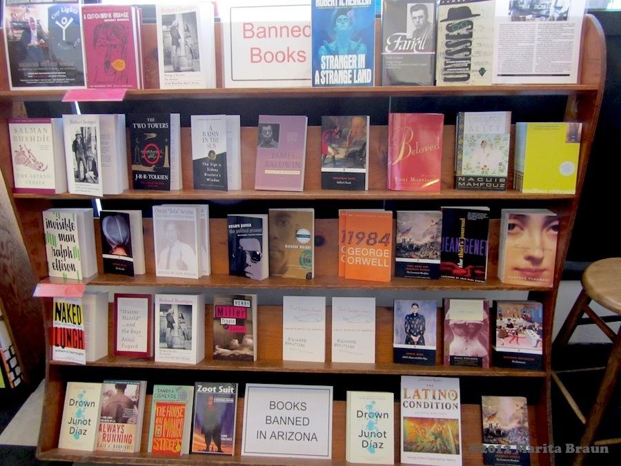 banned books shelf