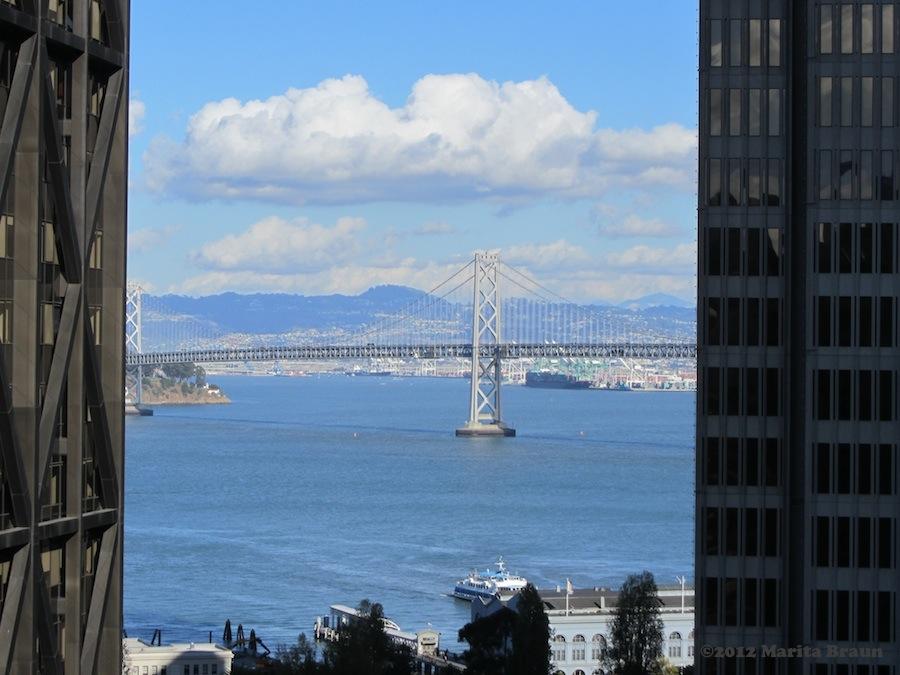 Bay Bridge View from Le Meridien San Francisco, sicht vom le meriden san francisco