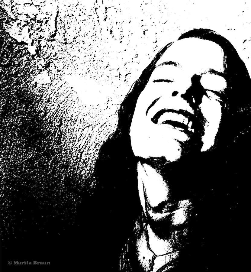 pure joy - girl laughing